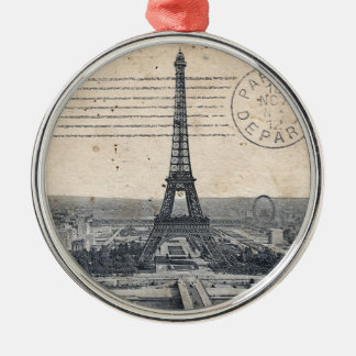 Vintage Eiffel Tower Metal Ornament