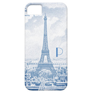 Vintage Eiffel Tower -monogrammed iPhone 5 Covers