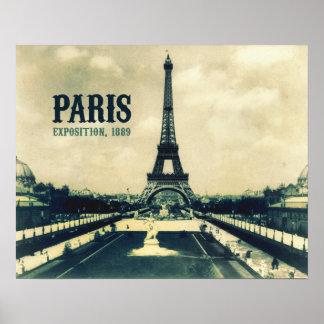 Vintage Eiffel Tower, Paris, 1889 Poster