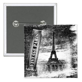Vintage Eiffel Tower Paris #3 - Button