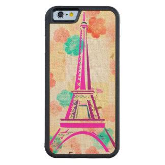Vintage Eiffel Tower- Paris Carved Maple iPhone 6 Bumper Case