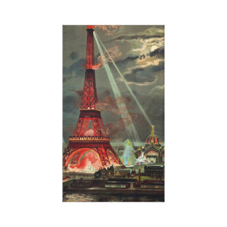Vintage Eiffel Tower Paris France Canvas Print