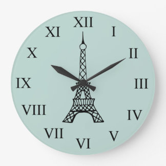 Vintage Eiffel Tower Paris Wall Clock Gift