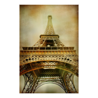 Vintage Eiffel Tower Photograph Poster