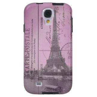 Vintage Eiffel Tower Postcard in Pink
