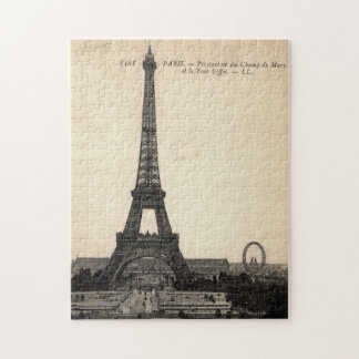 Vintage Eiffel Tower Puzzle