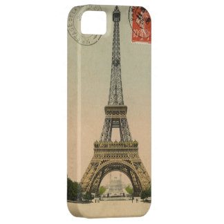 Vintage Eiffel Tower Stamped Postcard iPhone 5 Cover
