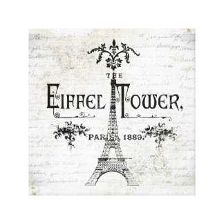 Vintage Eiffel Tower stretched canvas