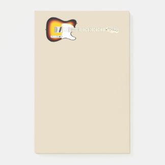 Vintage Electric Guitar Illustration Post-it Notes