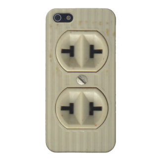 Vintage Electrical Socket Cover For iPhone 5/5S