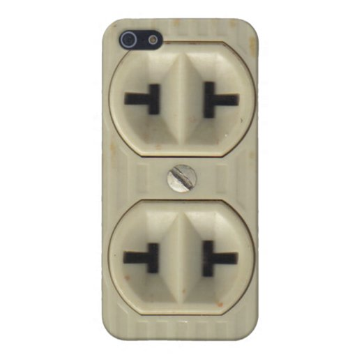 Vintage Electrical Socket iPhone 5 Cases