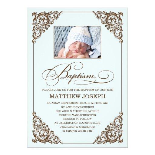 VINTAGE ELEGANCE  |  BAPTISM INVITATION