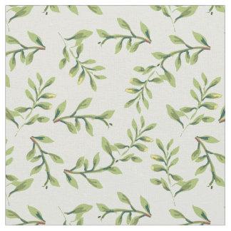 Vintage Elegant Cute Green Leaves Fabric