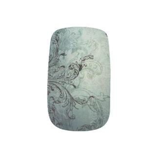 Vintage Elegant Engraved Swirls Minx Nail Art