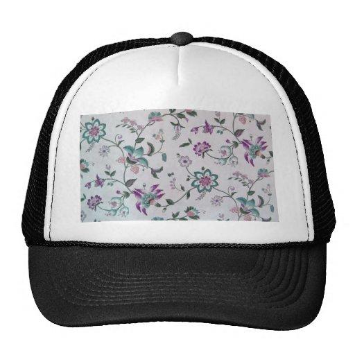 Vintage Elegant Floral Pattern Trucker Hat