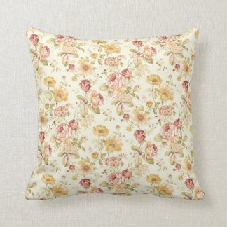 Vintage elegant floral pattern throw pillow