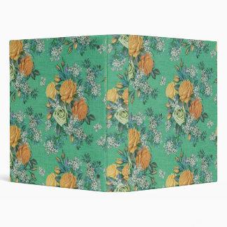 vintage elegant flowers floral binder