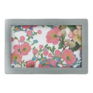vintage elegant flowers floral theme pattern belt buckle