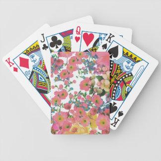 vintage elegant flowers floral theme pattern bicycle playing cards