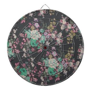 vintage elegant flowers floral theme pattern dartboard
