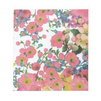 vintage elegant flowers floral theme pattern notepad