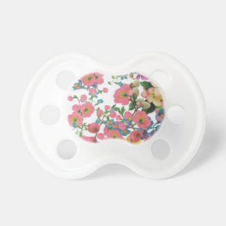 vintage elegant flowers floral theme pattern pacifier