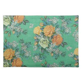 vintage elegant flowers floral theme pattern place mat
