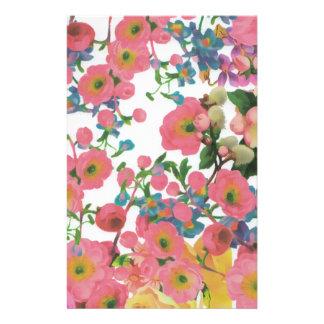 vintage elegant flowers floral theme pattern stationery