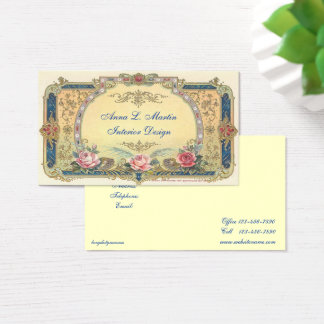 Vintage, Elegant French Country Business Card
