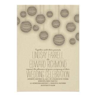Vintage Elegant Lights Wedding Invitations