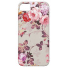 Vintage Elegant Pink Red Purple Roses Pattern Case For The iPhone 5
