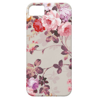 Vintage Elegant Pink Red Purple Roses Pattern iPhone 5 Covers