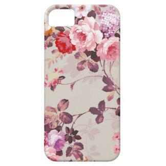 Vintage Elegant Pink Red Purple Roses Pattern iPhone 5 Covers