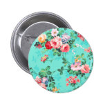 Vintage Elegant Pink Red Yellow Roses Pattern 2 Inch Round Button