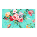 Vintage Elegant Pink Red Yellow Roses Pattern Business Card