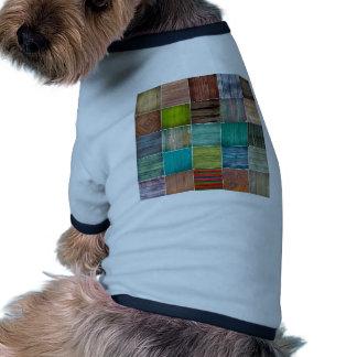 Vintage,elegant,rustic,wood collage green,brown dog tee shirt