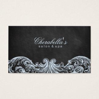 Vintage Elegant Salon Spa Business Card Chalkboard