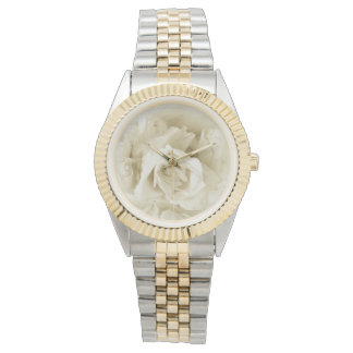Vintage Elegant Shabby Chic White Rose Watch