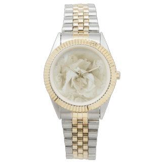 Vintage Elegant Shabby Chic White Rose Watches