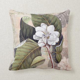 Vintage Elegant Southern Magnolia Chic Throw Pillow