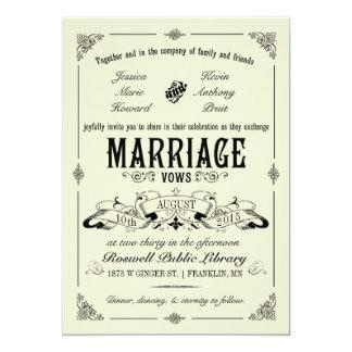 Vintage Elegant Wedding Invitation