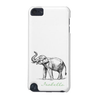Vintage elephant add your name text elephants iPod touch 5G case