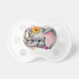 vintage elephant baby pacifier