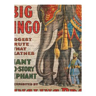 Vintage elephant customized letterhead