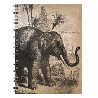 Vintage Elephant Mural Notebooks
