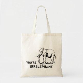 Vintage Elephant You're irrELEPHANT tote