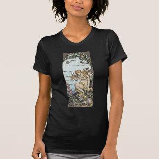 Vintage Elihu Vedder Mermaid Stained Glass T-Shirt