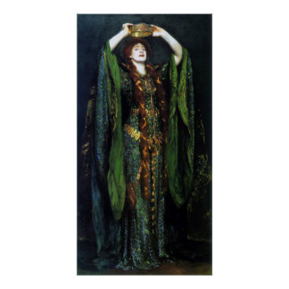 Vintage Ellen Terry as Lady Macbeth Print
