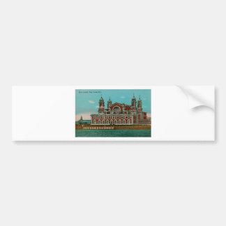 Vintage Ellis Island, New York City Bumper Sticker