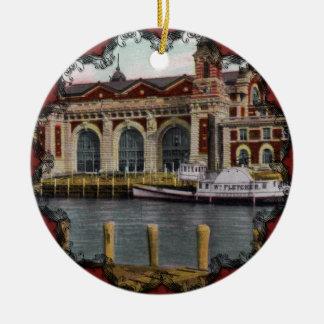 Vintage Ellis Island Ornament